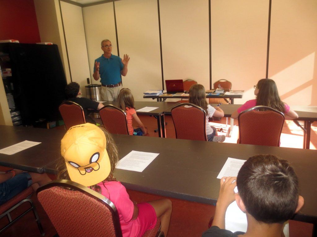 Karl J. Niemiec teaching Young Authors Cours at the Monon Center